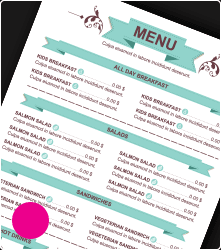 Milwaukee menu printing services